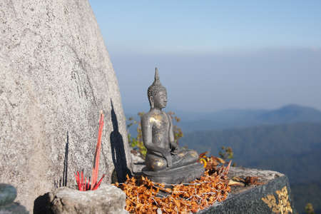 ange: Buddha statue Located on the hill. Stock Photo