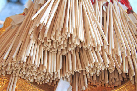 Incense sticks to pay homage
