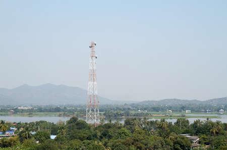 Phone Antenna Against Blue Sky
