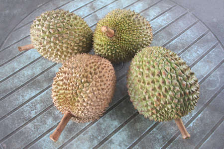 Fresh durian. King of fruit From the garden Stock Photo