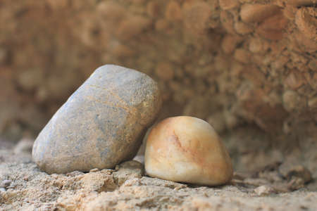 stones on the ground in nature