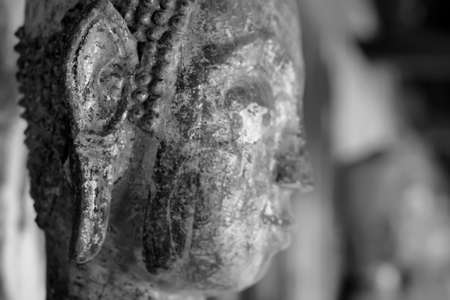 Black and white close up Specific patterns for the Buddha image