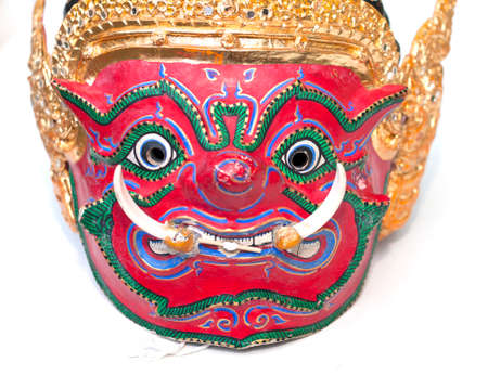 Hua Khon art (Thai Traditional Mask) Used in Khon - Thai traditional dance,selective focus
