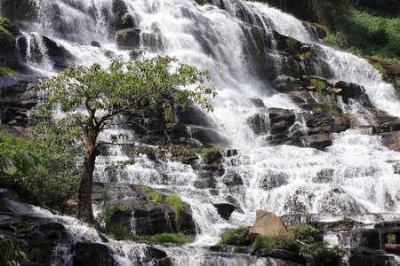 a Beautiful Mae Ya Waterfall, Doi Inthanon National Park, thailand Stock Photo