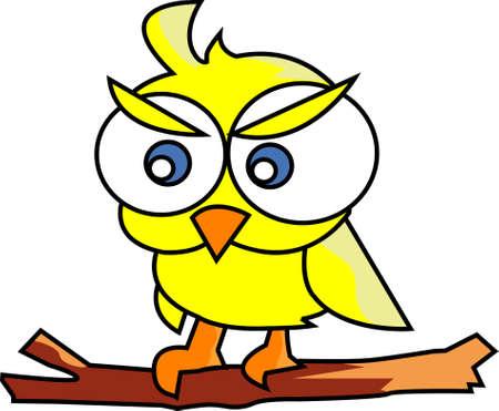 A cute little bird Stock Vector - 18497049