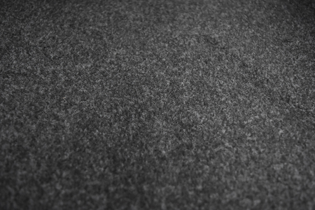 Synthetic gray-black hair rug, Used in cars as a dust collector