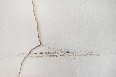 Rain water leaks on the ceiling causing damage, tiles and gypsum board. Reklamní fotografie