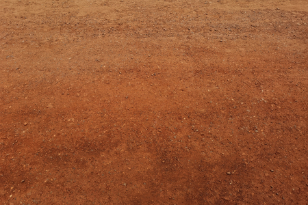 Laterite soil textured background and is mostly of the iron oxide and aluminum .