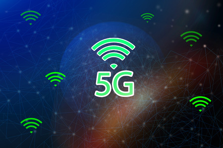 5G Internet network and intelligent connection , Communication concepts. Stock fotó - 126571378