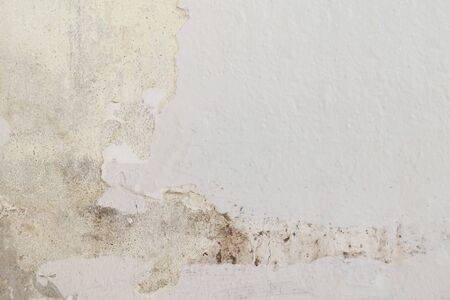 Rain water leaks on the ceiling causing cement damage, peeling paint and moldy. Stock fotó