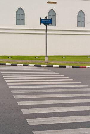 crosswalk: Cruce peatonal carretera