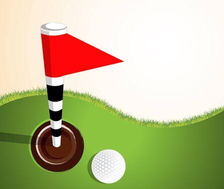 palying: Golfball on green
