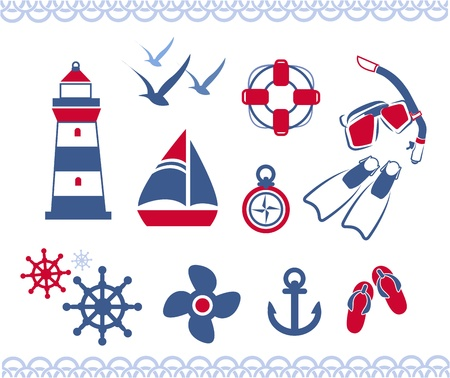 nautical icons Stock fotó - 19282221