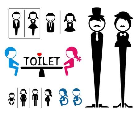 ba�o blanco: WC signo Vectores