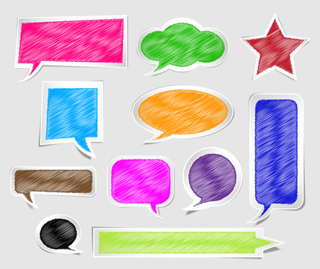 illustration of chat in paper sticker style Vector