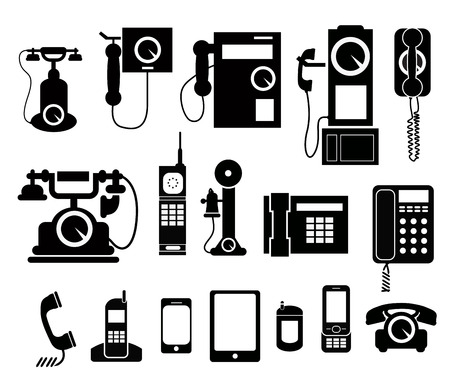 phone set icon Stock fotó - 24219030