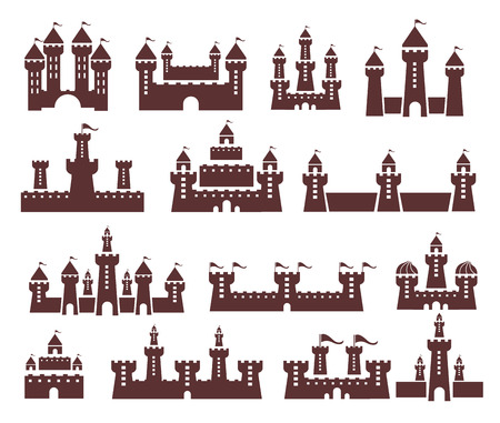 Castle vector set Vector