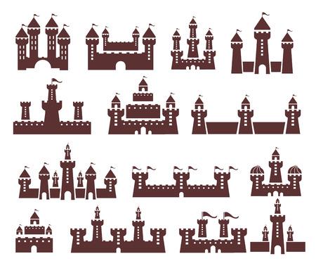stronghold: Castle vector set Illustration