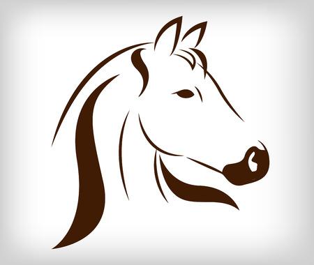 Vector hoofd van het paard