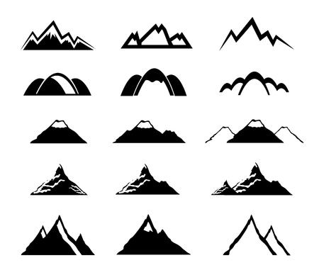 mountain icons set Illustration