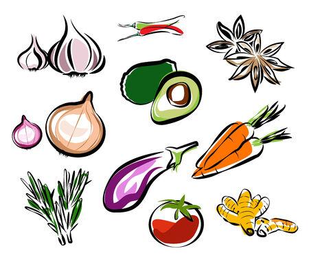 vegetables vector Vector