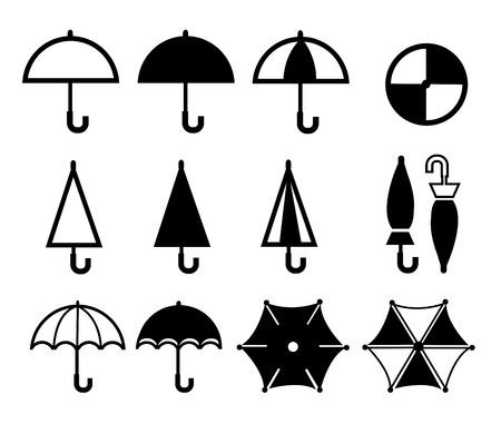 shape silhouette: Umbrella collections Illustration