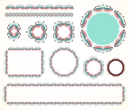 Decorative vintage frame  set 1  Vector