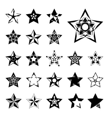Star vector icons Illusztráció