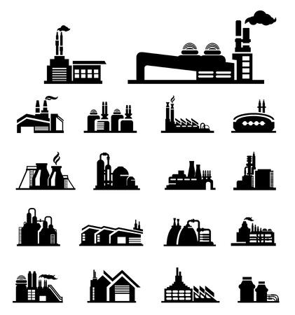 car factory: factory icon vector Illustration