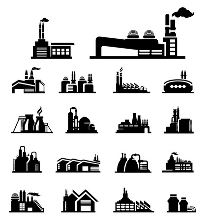 factory icon vector Illustration