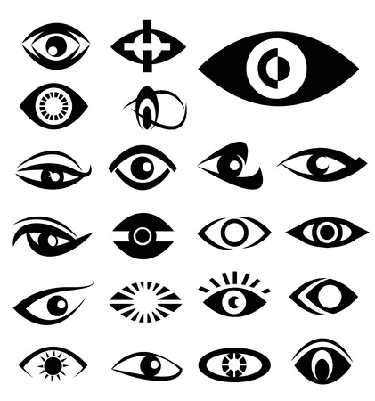 Eyes designs vector