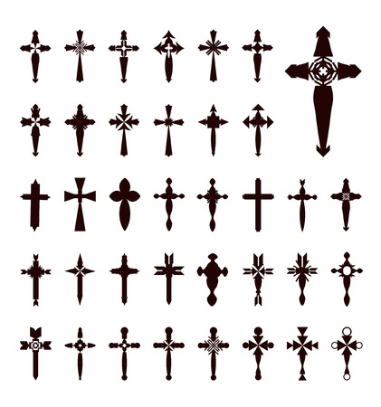iron cross: crosses vector