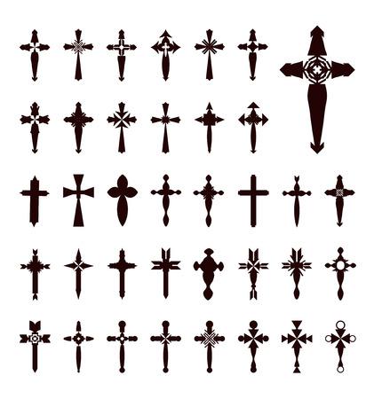 croix de fer: traverse vecteur Illustration