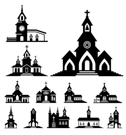 vector kerk Stock Illustratie