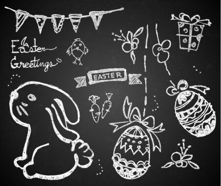 Easter on the chalkboard