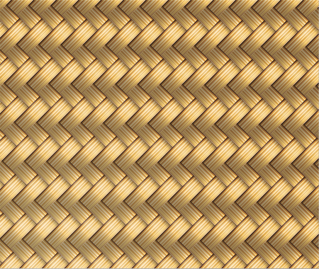straw mat: Wicker Seamless Pattern Vector