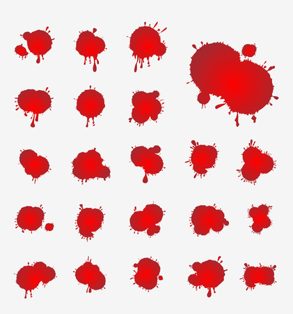 vector set of blood stains