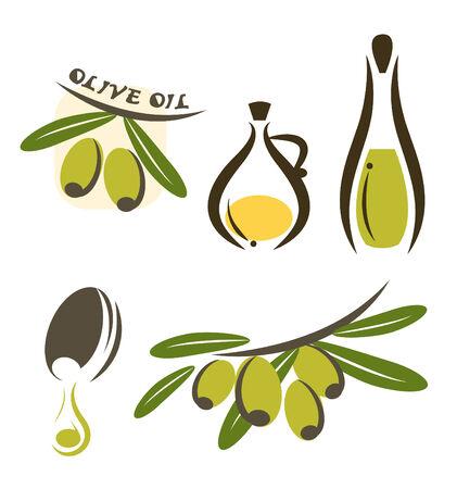 olive oil vector Illusztráció