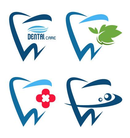 vector collection of healthy teeth Illusztráció
