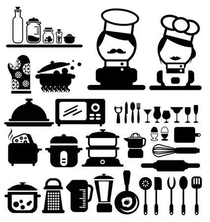 cooking icons vector Vector