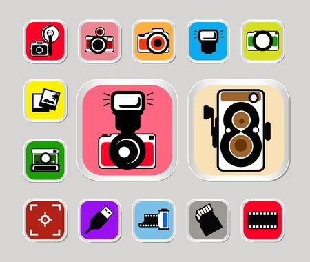 camera icons Illusztráció