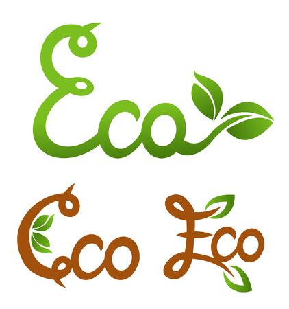 car leaf: Ecology vector set. Eco-icons. Illustration