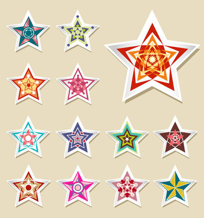 stickers of vintage Star