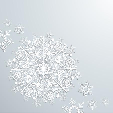 origami snowflake background Illustration Illusztráció