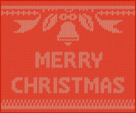 Red sweater, Knit vector