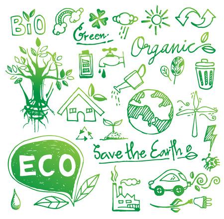 Ecologie doodle vector