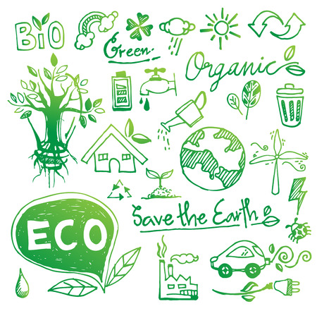 Ecology doodle vector