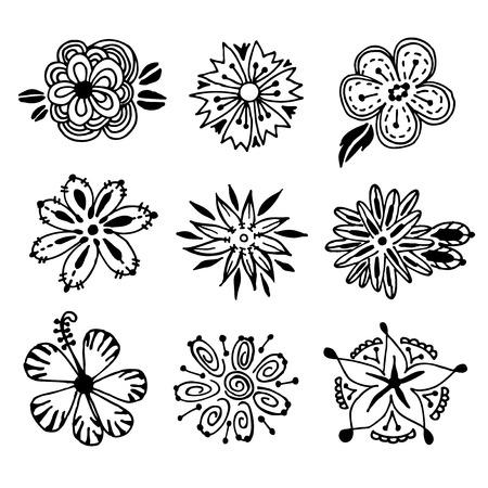 flower doodle vector Illusztráció