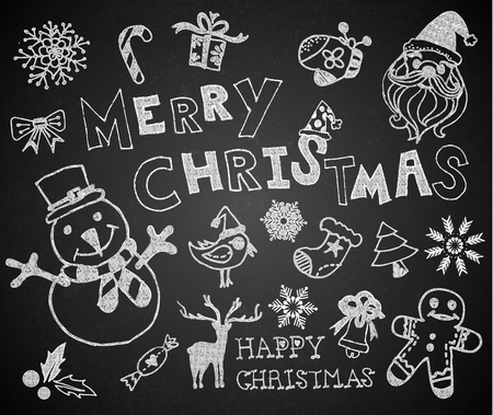 Christmas on the chalkboard