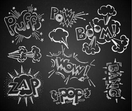 Comic on the chalkboard